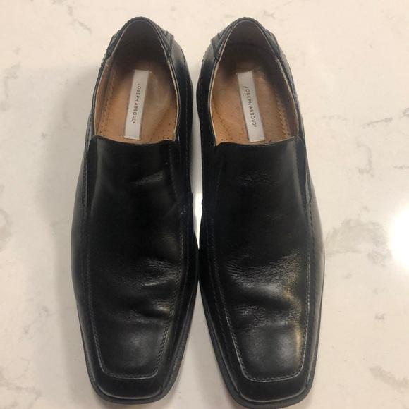 Joseph Abboud Black Slip On Dress Shoes